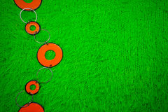 Beads on a green Royalty Free Stock Photography