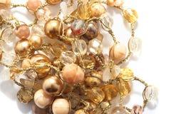 beads guld- yellow Royaltyfri Fotografi