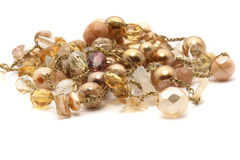 beads guld- yellow Arkivfoto