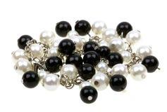 beads halsbandradwhite Arkivbilder