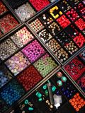 Beads for handicraft Royalty Free Stock Photos