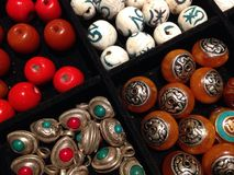 Beads for handicraft Stock Photos