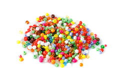 Beads heap isolated Royalty Free Stock Photography