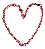 Beads in heart Stock Photography