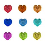 Beads Hearts Royalty Free Stock Photos