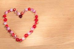 beads hjärta Arkivbilder