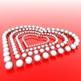 beads hjärta Royaltyfri Foto