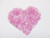 beads hjärtapink Royaltyfri Fotografi
