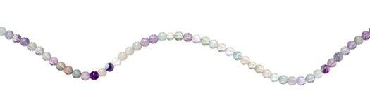 beads isolerad fluorite Royaltyfri Fotografi