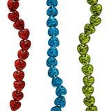 beads isolerat exponeringsglas Royaltyfria Bilder