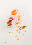 Beads in jars, placer Royalty Free Stock Photography