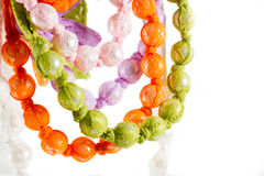Beads and lace necklace Stock Photography