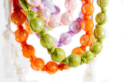 Beads and lace necklace Royalty Free Stock Photos