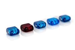 beads lampwork arkivbilder