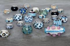 beads lampwork Arkivfoto