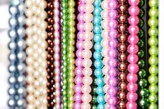 Beads in lines Stock Photo