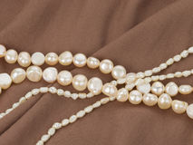 Beads made from freshwater pearls Stock Photo