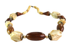 Beads made of wood and ivory Royalty Free Stock Photography