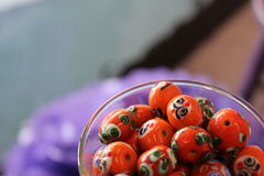 Beads in a Martini Glass Stock Photography