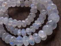 Beads of moonstone Royalty Free Stock Photo