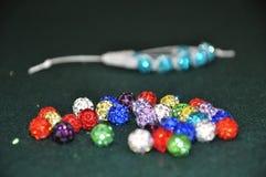 Beads. Motley beads Stock Photo