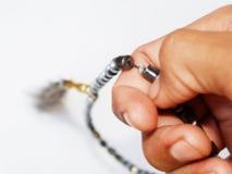 beads muslimbönen royaltyfri bild