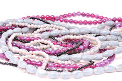 Beads, necklace Stock Images