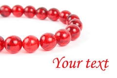 Beads necklace Stock Photography