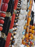 Beads and necklaces Stock Image