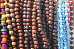 Beads necklaces Stock Images
