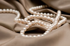 Beads Of Pearl Royalty Free Stock Photos