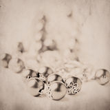 Beads over grunge background Royalty Free Stock Image