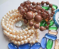 Beads and pearl beads Stock Image