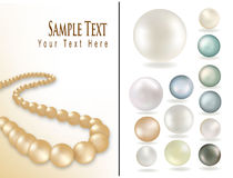 Beads from pearls. Vector Royalty Free Stock Image