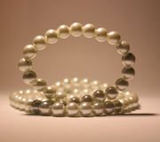 Beads of pearls royalty free stock images
