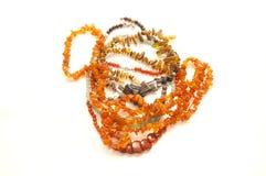 Beads from precious  stones Stock Photos