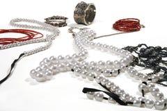 beads röd white Royaltyfria Foton