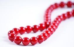 beads red Fotografering för Bildbyråer