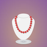 beads red Arkivfoto