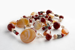 Beads of semi-precious stones Stock Image