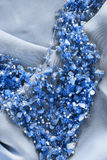 Beads on silk Royalty Free Stock Photos