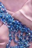 Beads on silk Stock Photography
