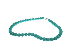 Beads from a stone turquoise Stock Image