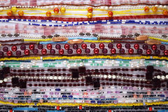 Beads strings background Stock Photo