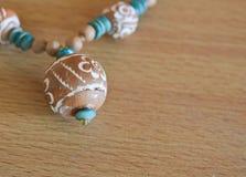 beads trä Royaltyfria Foton