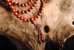 beads trä Arkivfoto