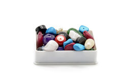 Beads and trinkets box Stock Photo