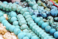 beads turkos Royaltyfri Foto