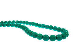 Beads are turquoise Stock Image