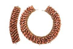 Beads on white background Stock Image